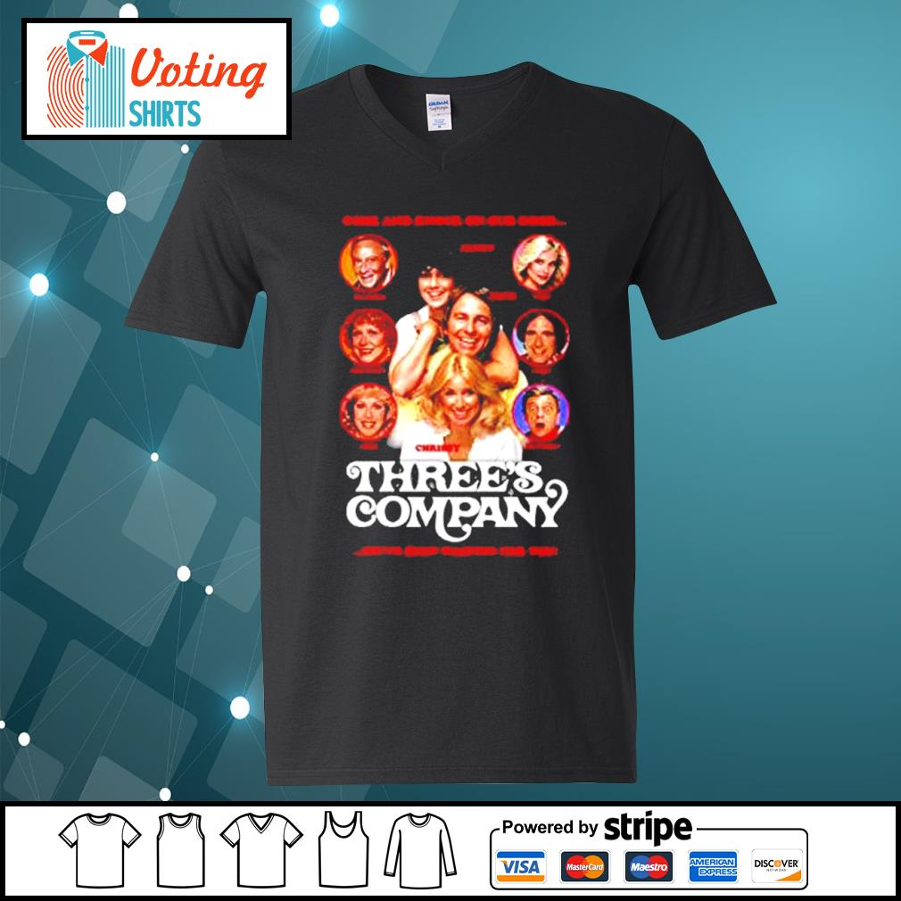 Come and knock on our door Three's Company s v-neck-t-shirt