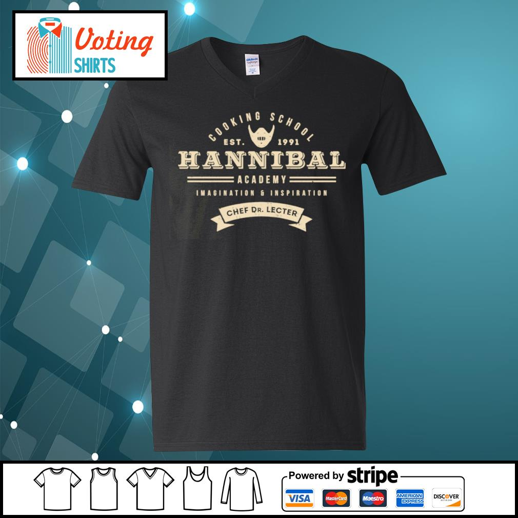 Cooking school est 1991 Hannibal academy imagination and inspiration chef Dr. Lecter s v-neck-t-shirt