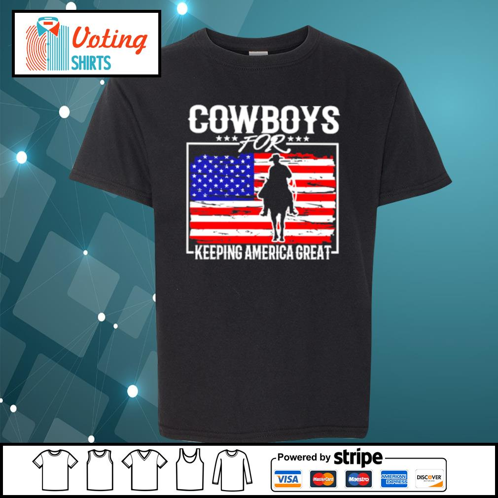 Cowboys for keeping america great s youth-tee
