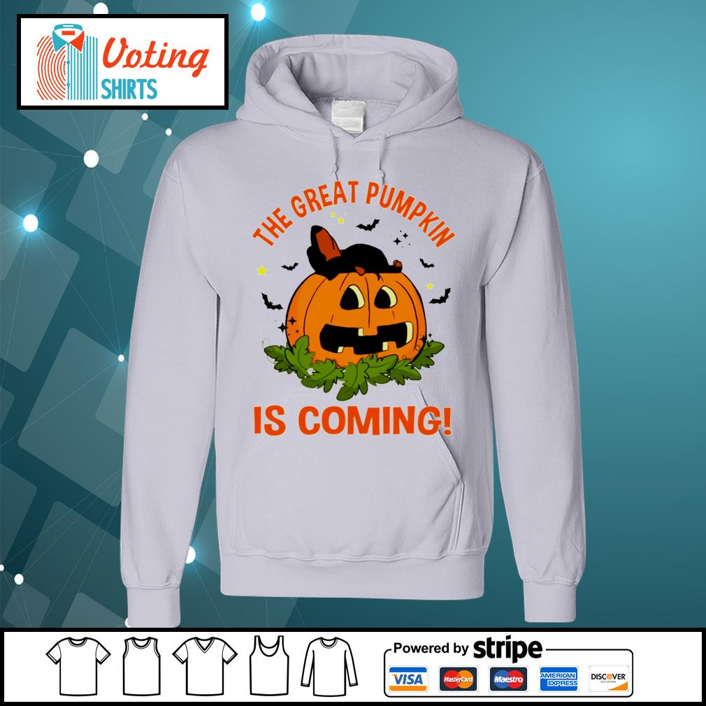 Dachshund the great pumpkin is coming s hoodie