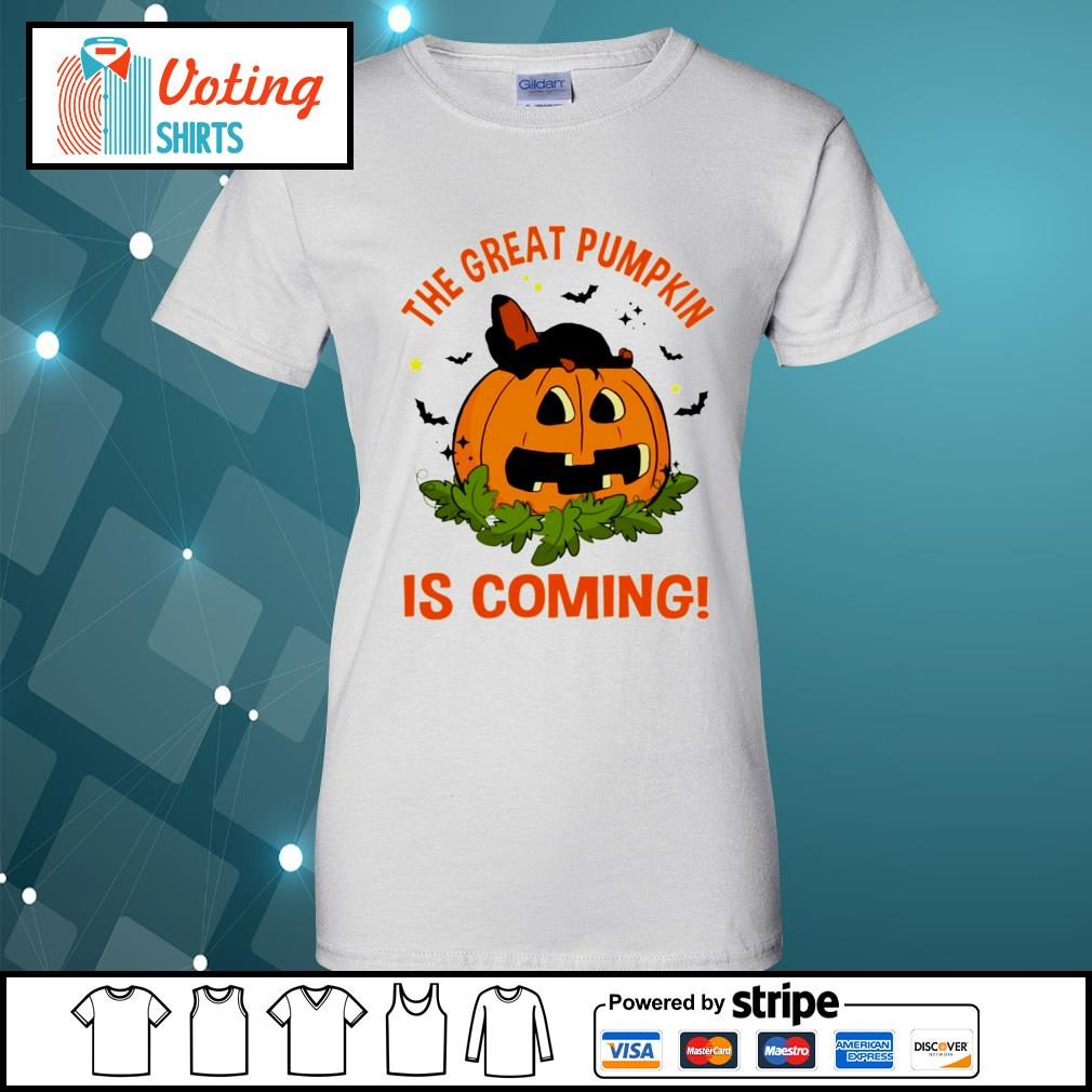 Dachshund the great pumpkin is coming s ladies-tee