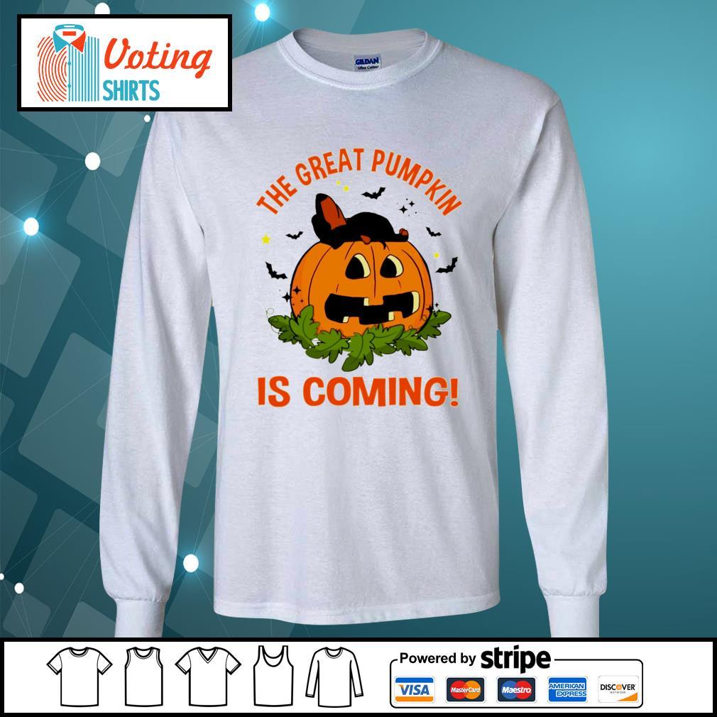 Dachshund the great pumpkin is coming s longsleeve-tee