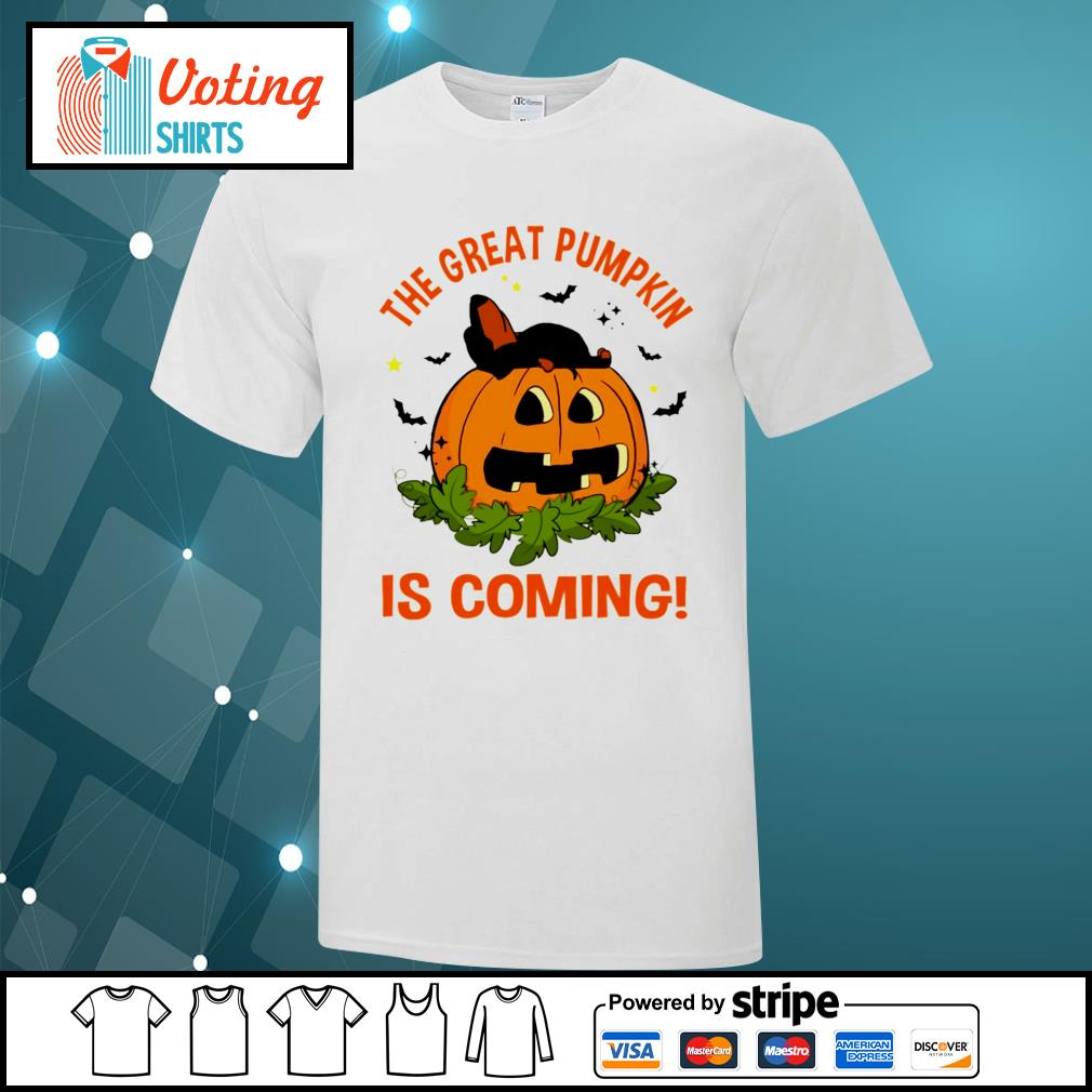 Dachshund the great pumpkin is coming shirt