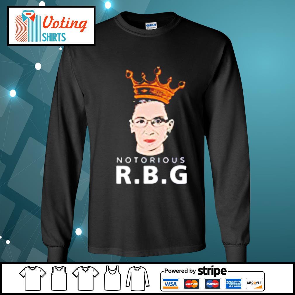Decrum black Notorious RBG Feminist Ruth Bader Ginsburg s longsleeve-tee