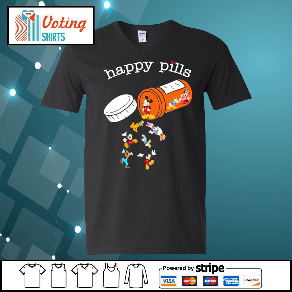 Disney Mickey Mouse happy pills s v-neck-t-shirt