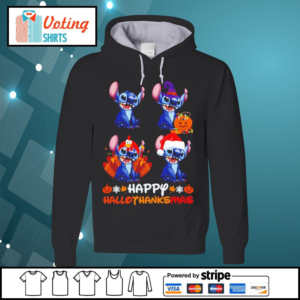 Disney Stitch happy HalloThanksMas s hoodie