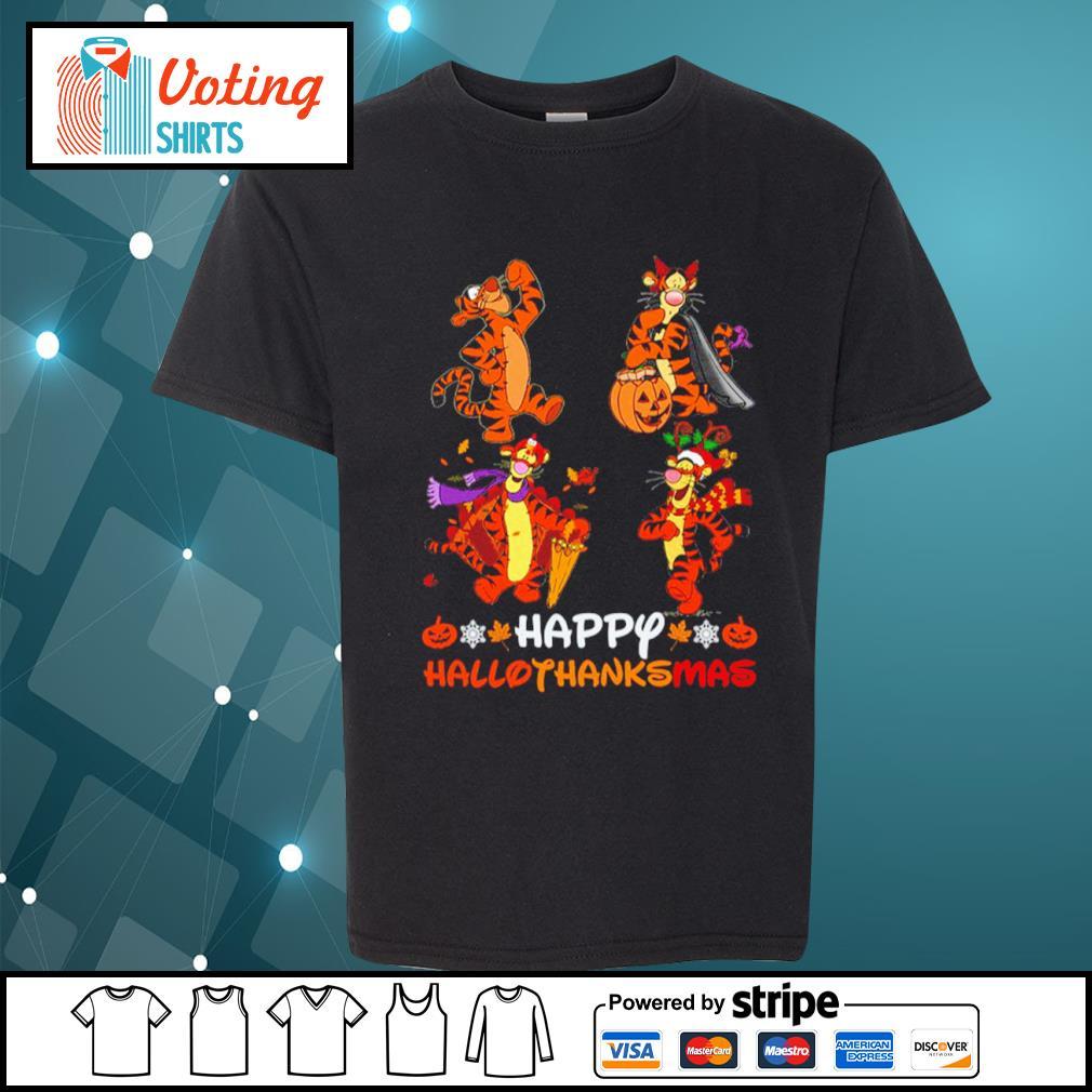 Disney Tigger Happy HalloThanksMas s youth-tee