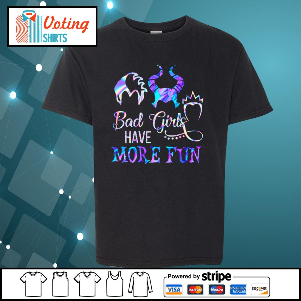 Disney Villains bad girls have more fun s youth-tee