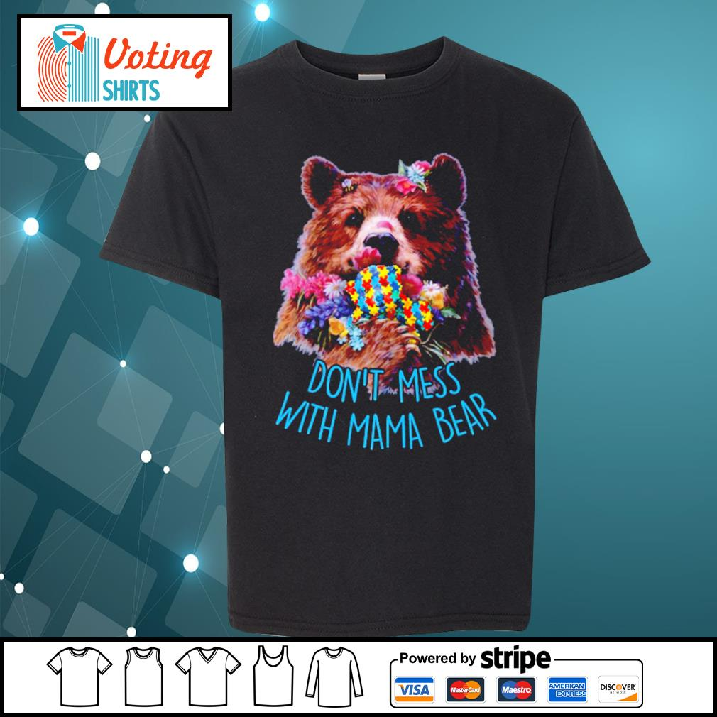 Don't mess with mama bear s youth-tee