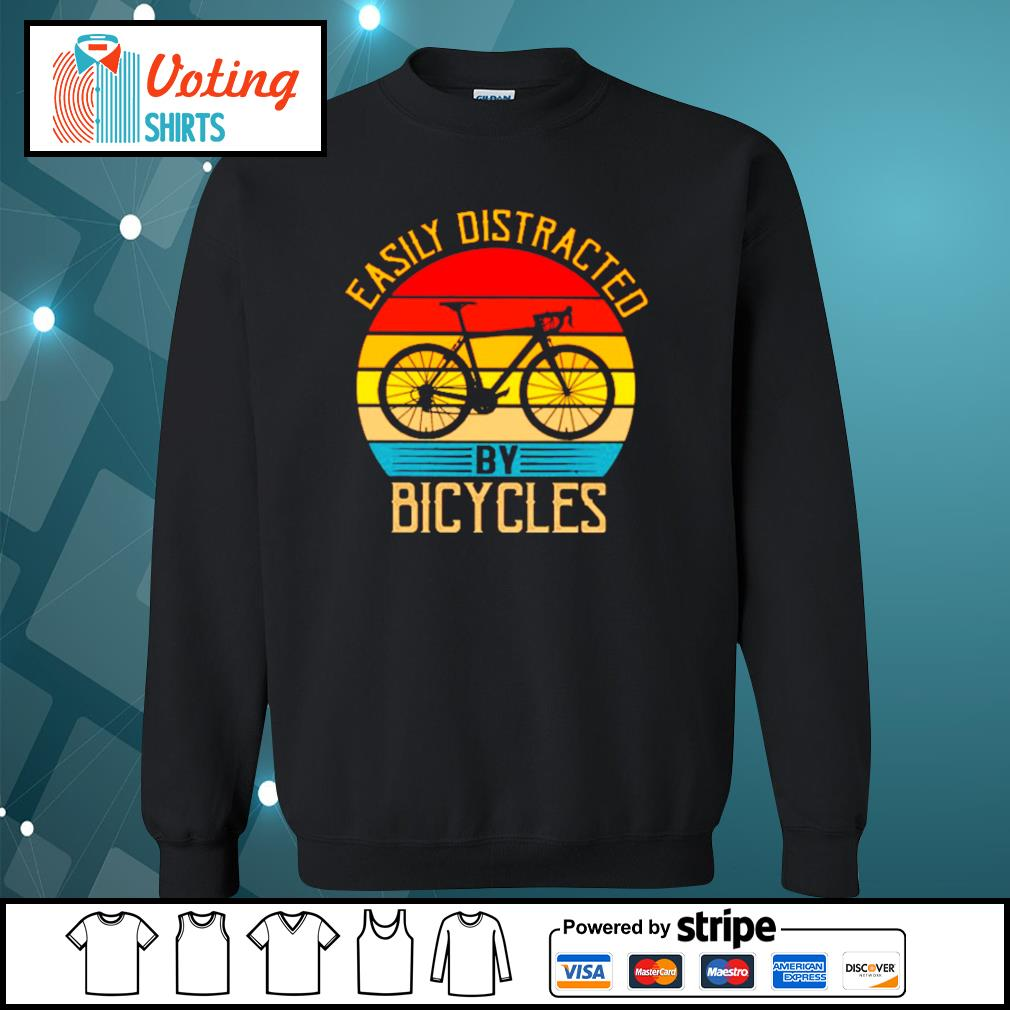 Easily distracted by bicycles vintage s sweater