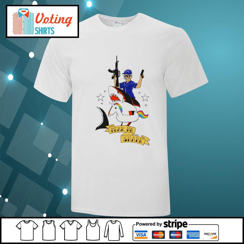 Fear no shark unicorn shirt