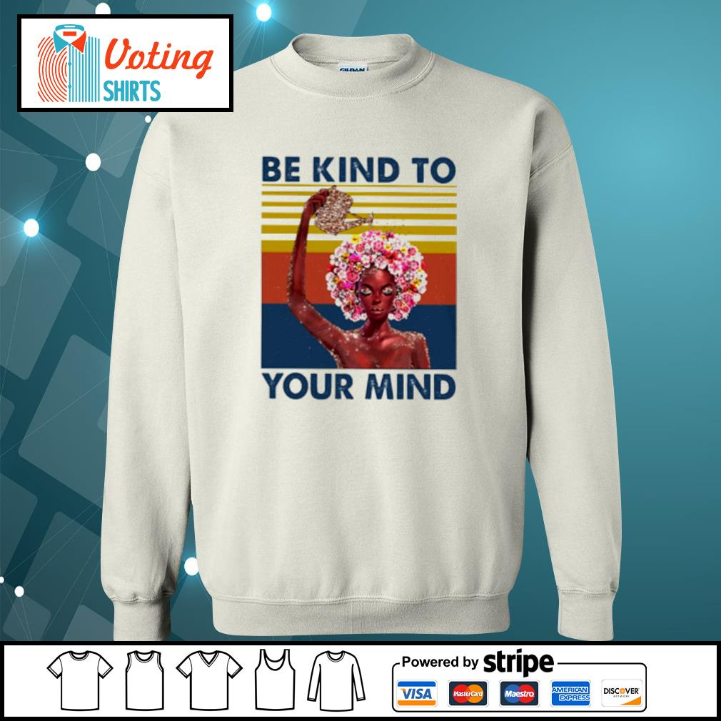 Flower girl be kind to your mind vintage s sweater