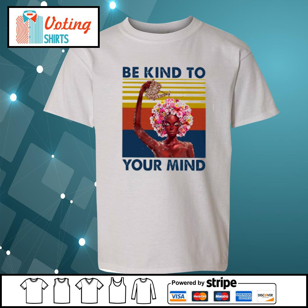 Flower girl be kind to your mind vintage s youth-tee