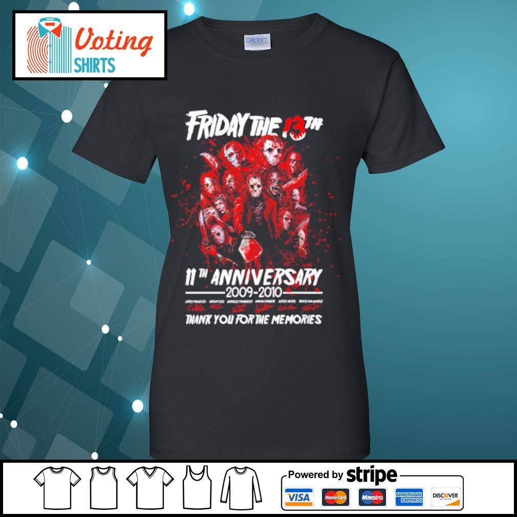 Friday The 13th 11th anniversary 2009-2020 thank you for the memories s ladies-tee