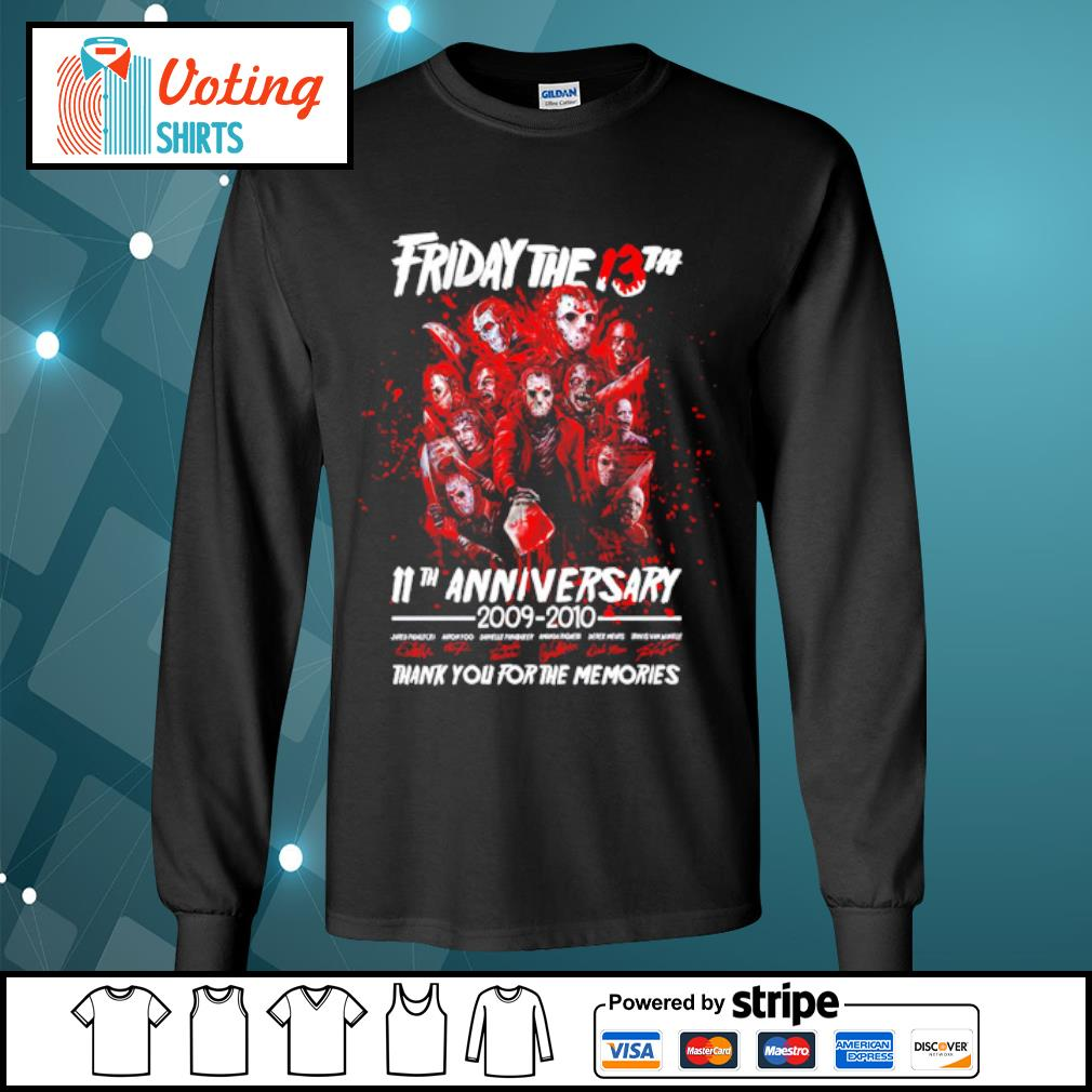 Friday The 13th 11th anniversary 2009-2020 thank you for the memories s longsleeve-tee