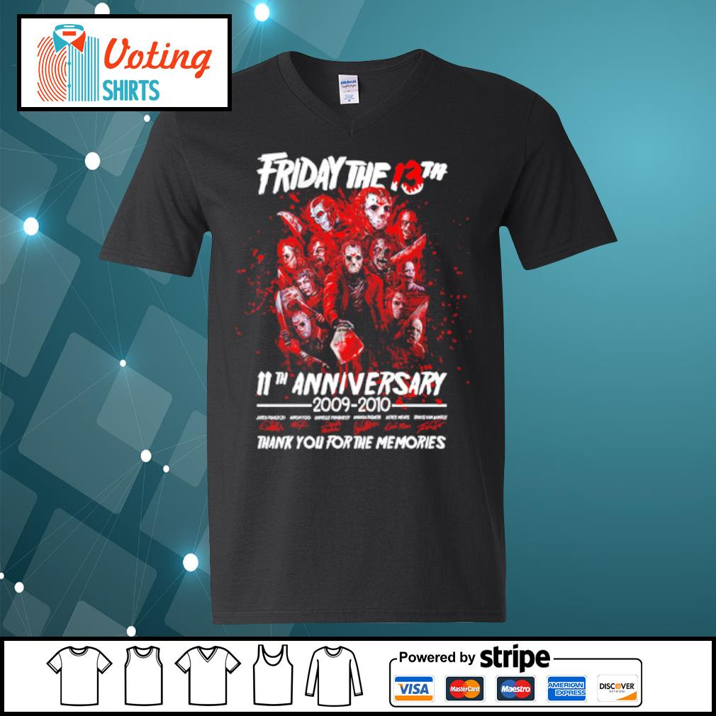 Friday The 13th 11th anniversary 2009-2020 thank you for the memories s v-neck-t-shirt