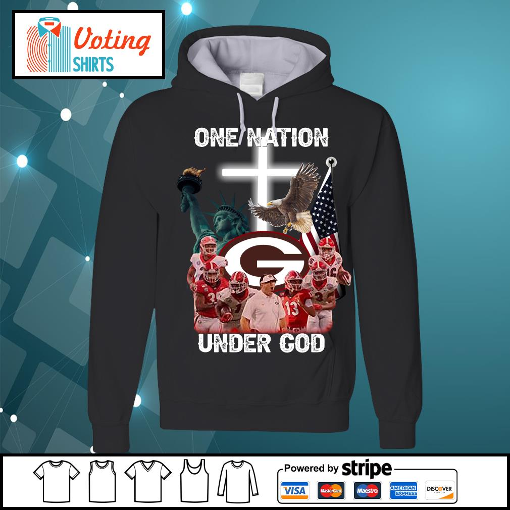 Georgia Bulldogs one nation under god s hoodie
