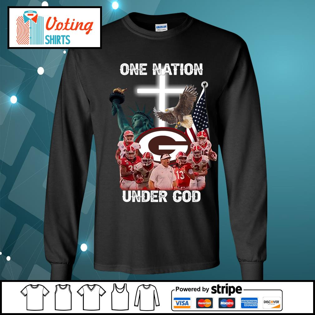 Georgia Bulldogs one nation under god s longsleeve-tee