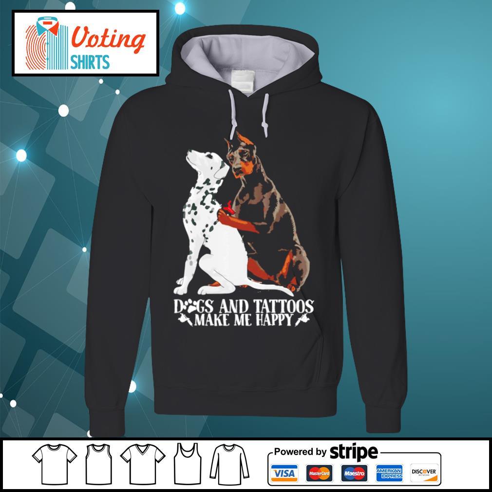German Shepherd dog and tattoos make me happy s hoodie