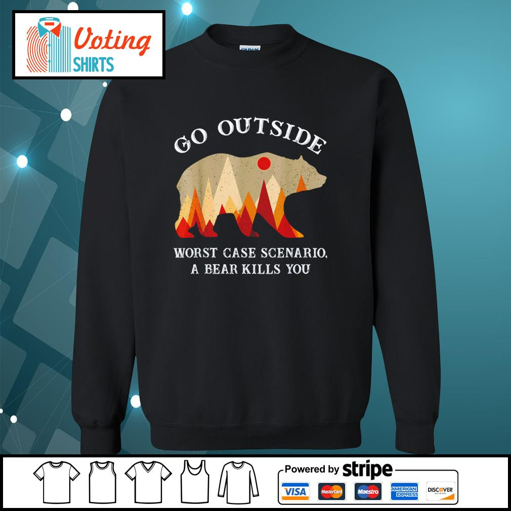 Go outside worst case scenario a bear kills you s sweater