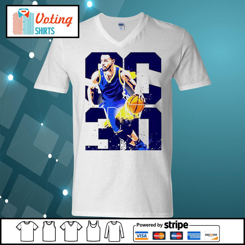 Golden State Warriors Stephen Curry 30 s v-neck-t-shirt
