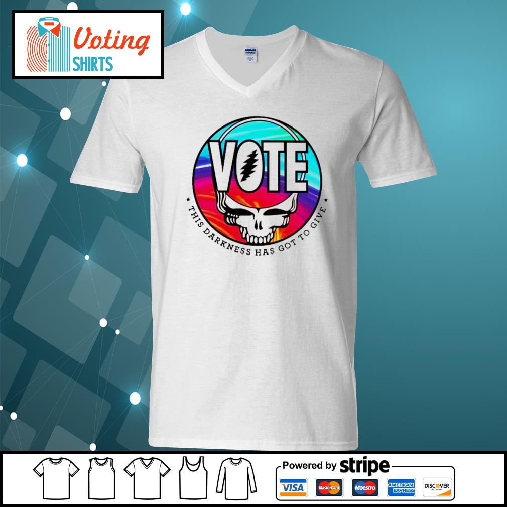 Grateful Dead Vote this darkness has got to give s v-neck-t-shirt