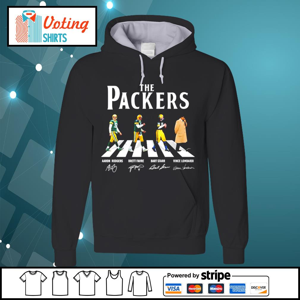 Green Bay Packers abbey road signatures s hoodie