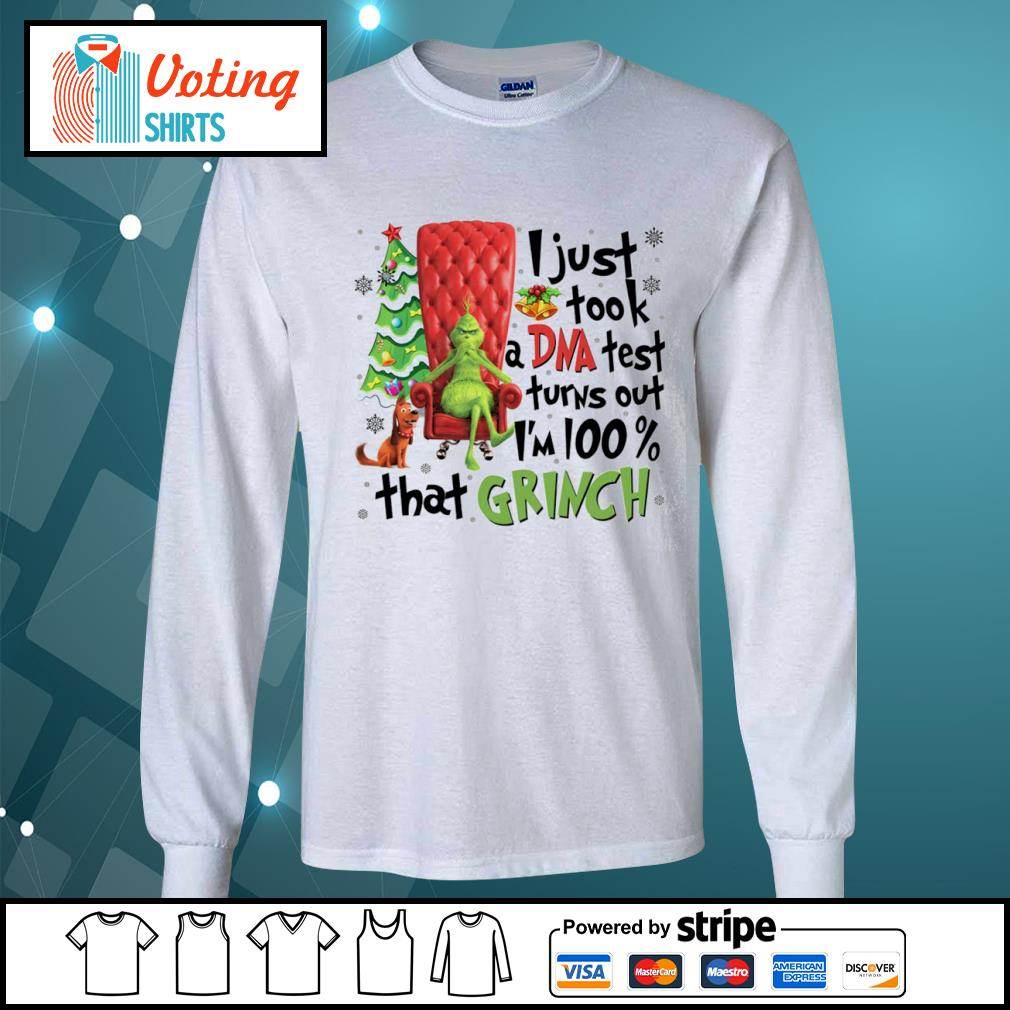 Grinch and Max I just took a DNA test turns out I'm 100 percent that Grinch s longsleeve-tee