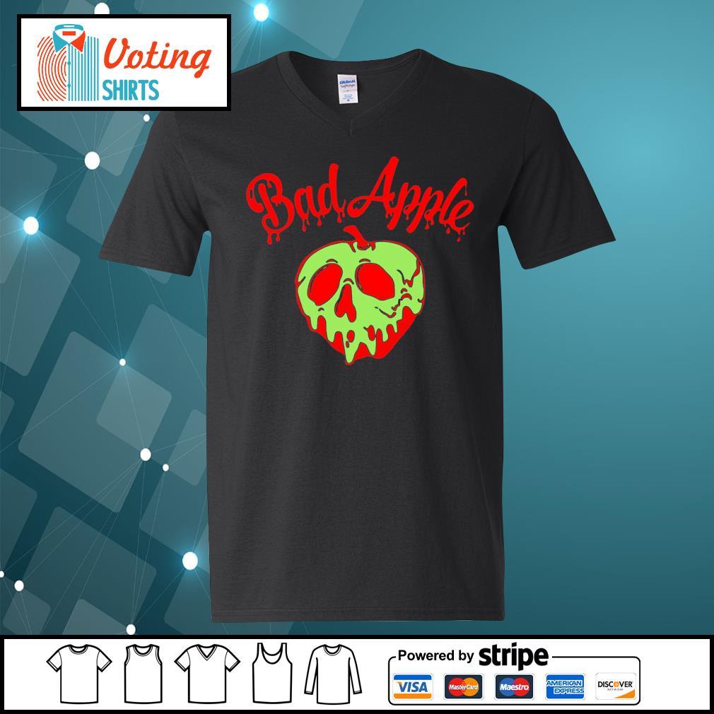 Halloween bad apple s v-neck-t-shirt