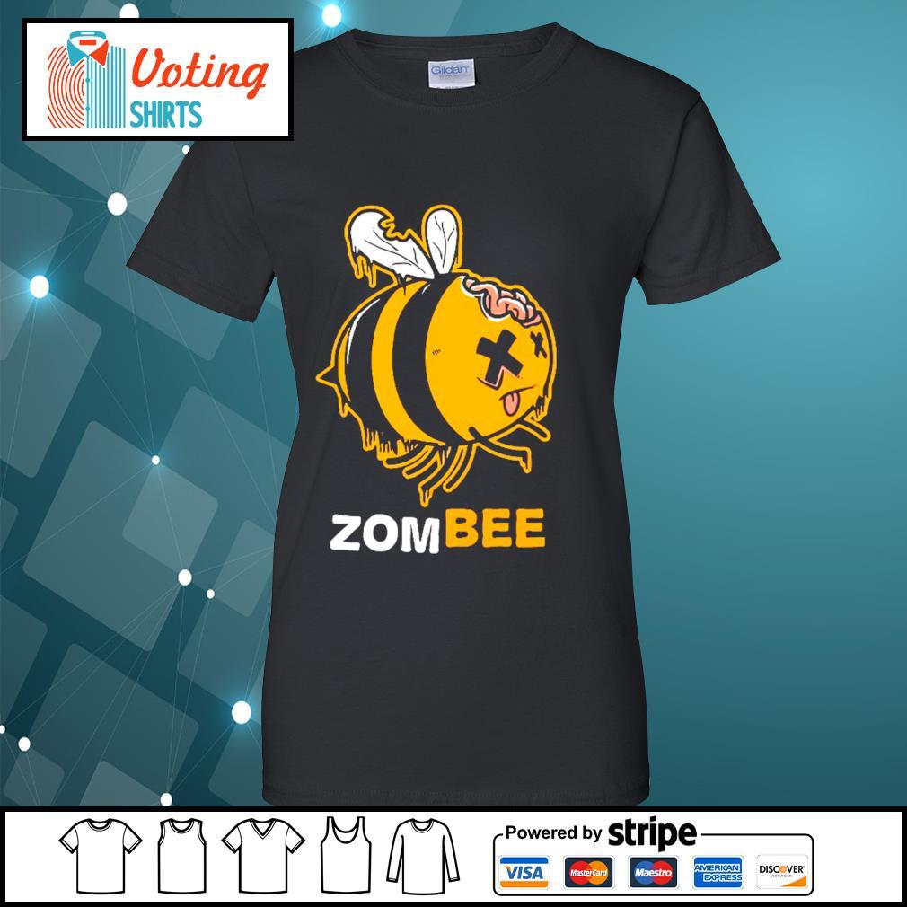 Halloween bee zombee s ladies-tee