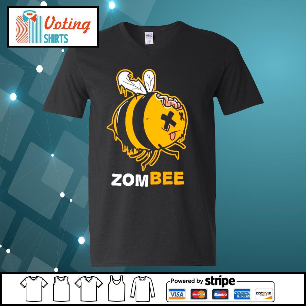 Halloween bee zombee s v-neck-t-shirt