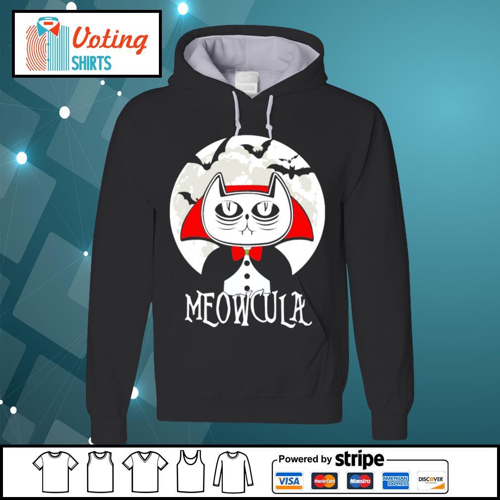 Halloween cat vampire dracula Meowcula s hoodie