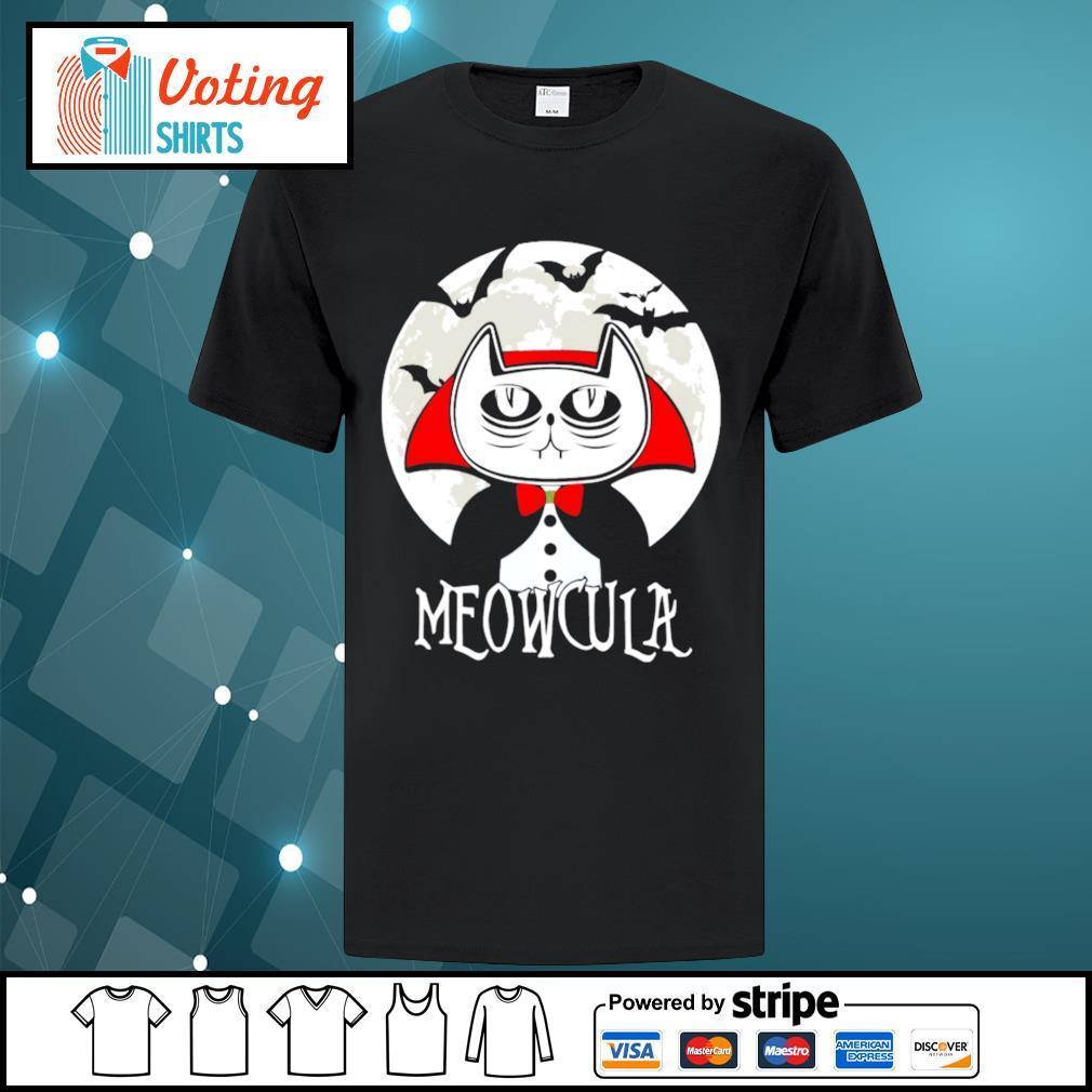 Halloween cat vampire dracula Meowcula shirt