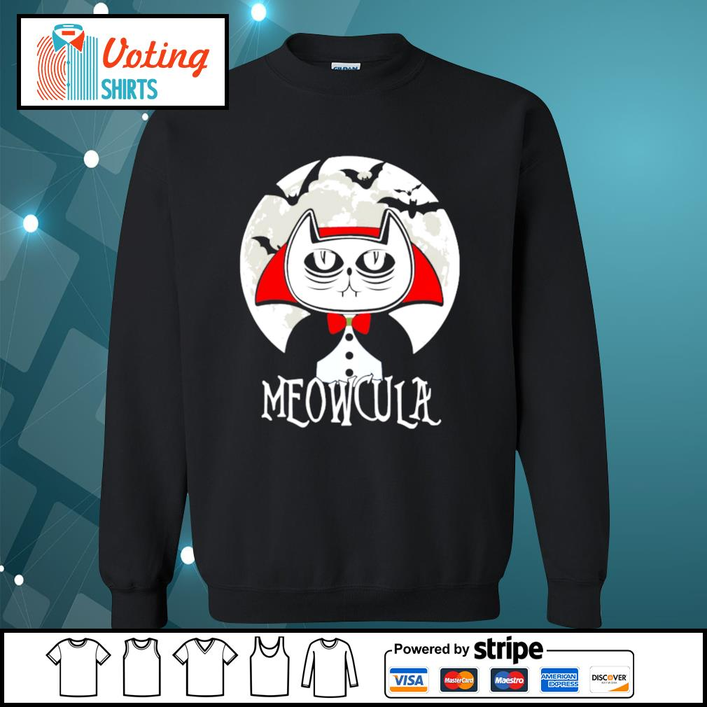 Halloween cat vampire dracula Meowcula s sweater