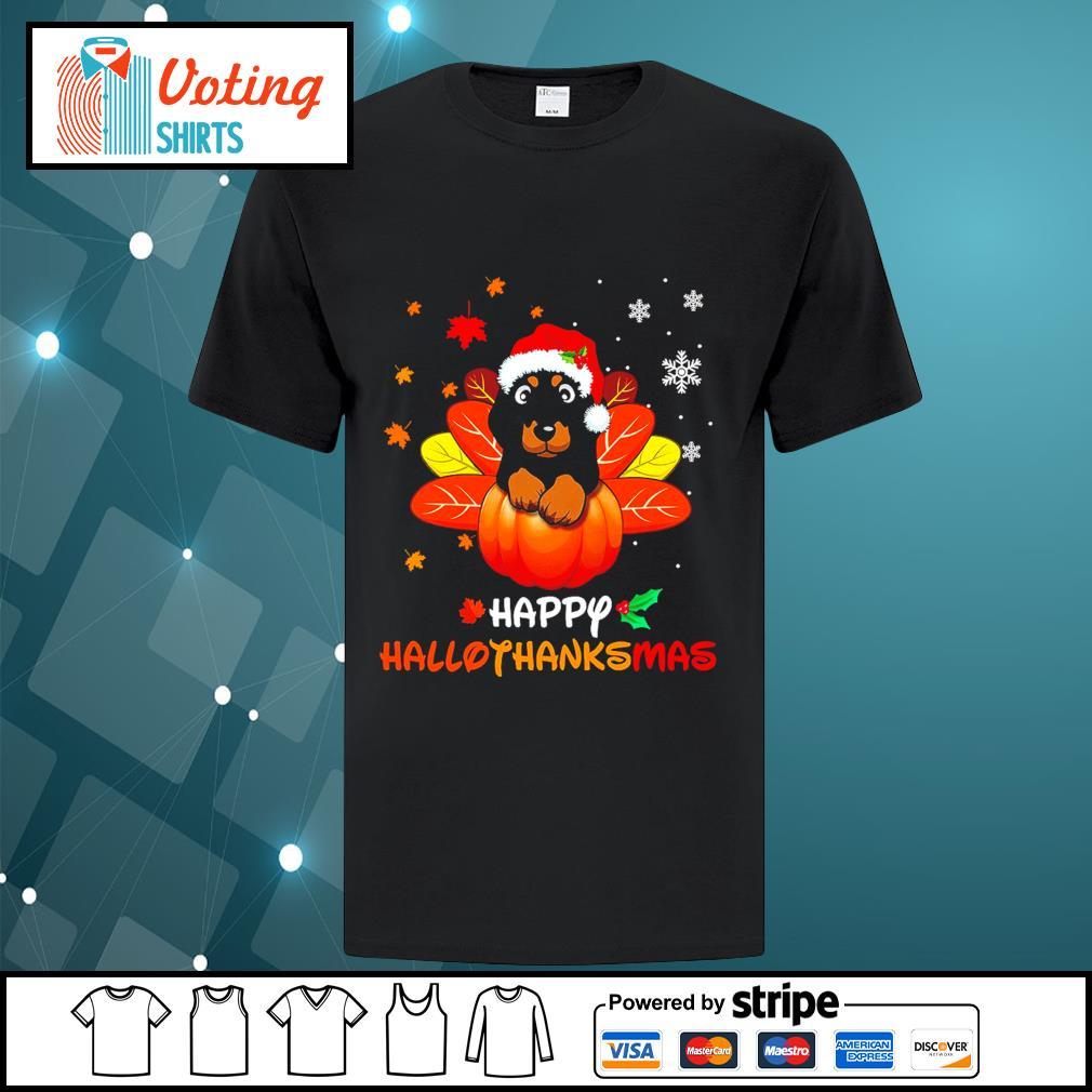 Halloween Dachshund Happy Hallothanksmas shirt