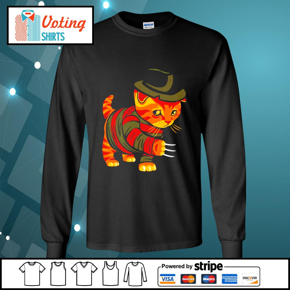 Halloween Freddy Krueger cat s longsleeve-tee