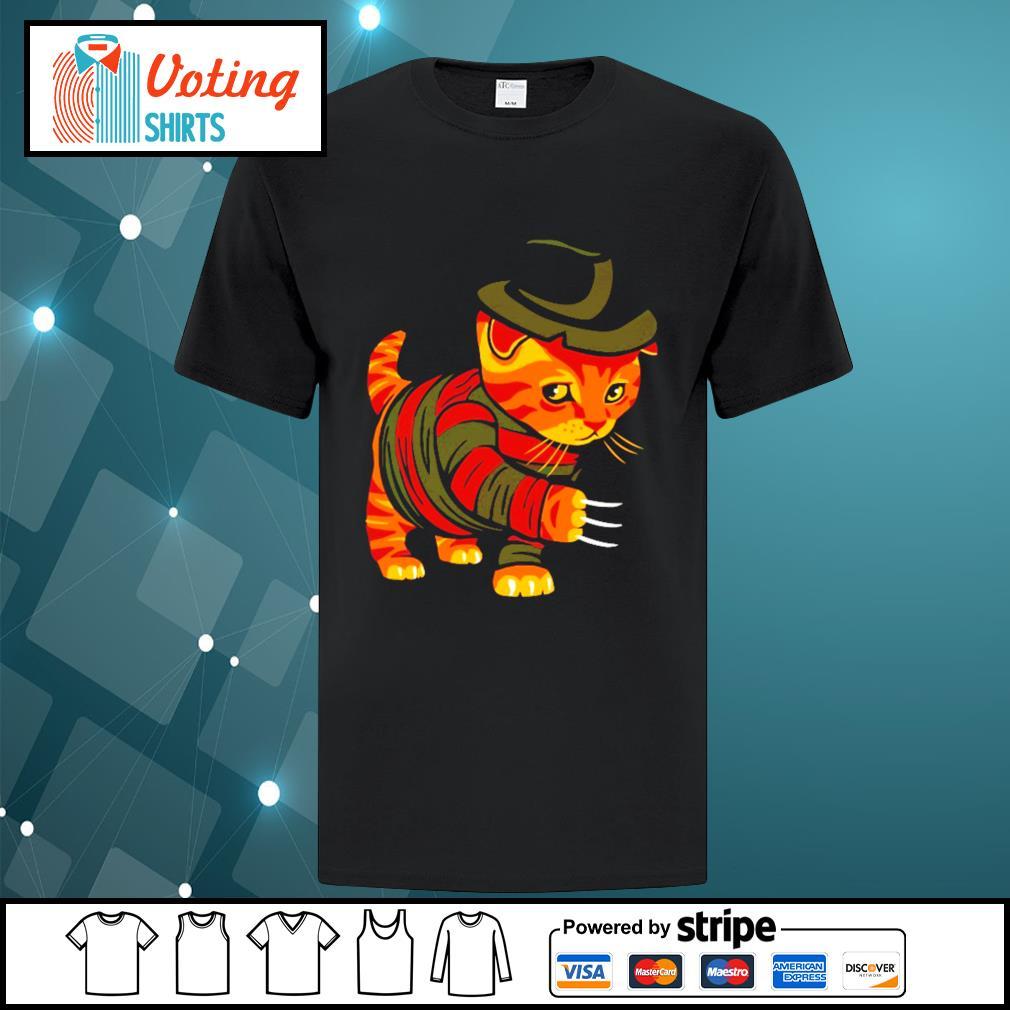 Halloween Freddy Krueger cat shirt