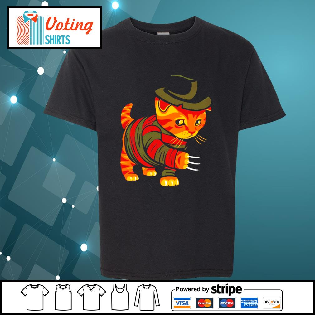 Halloween Freddy Krueger cat s youth-tee