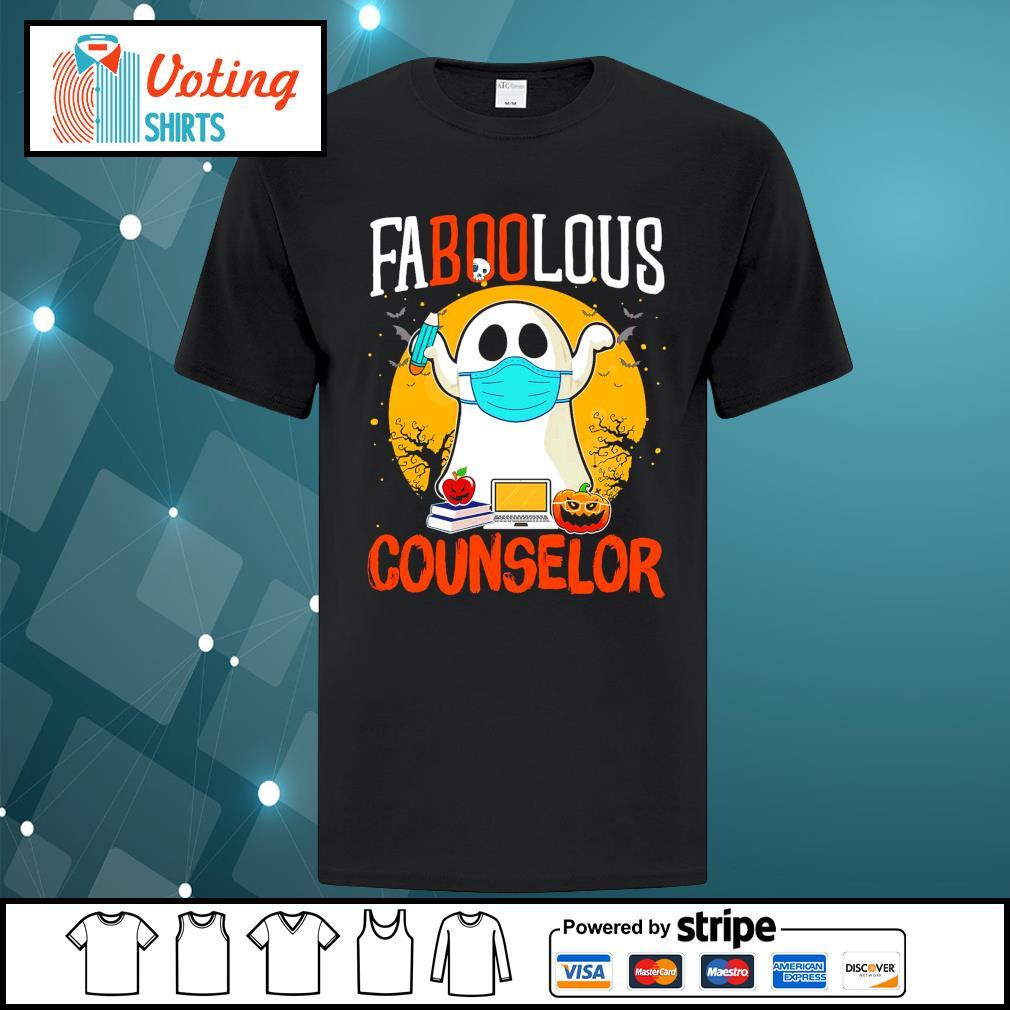 Halloween ghost face mask faboolous counselor shirt