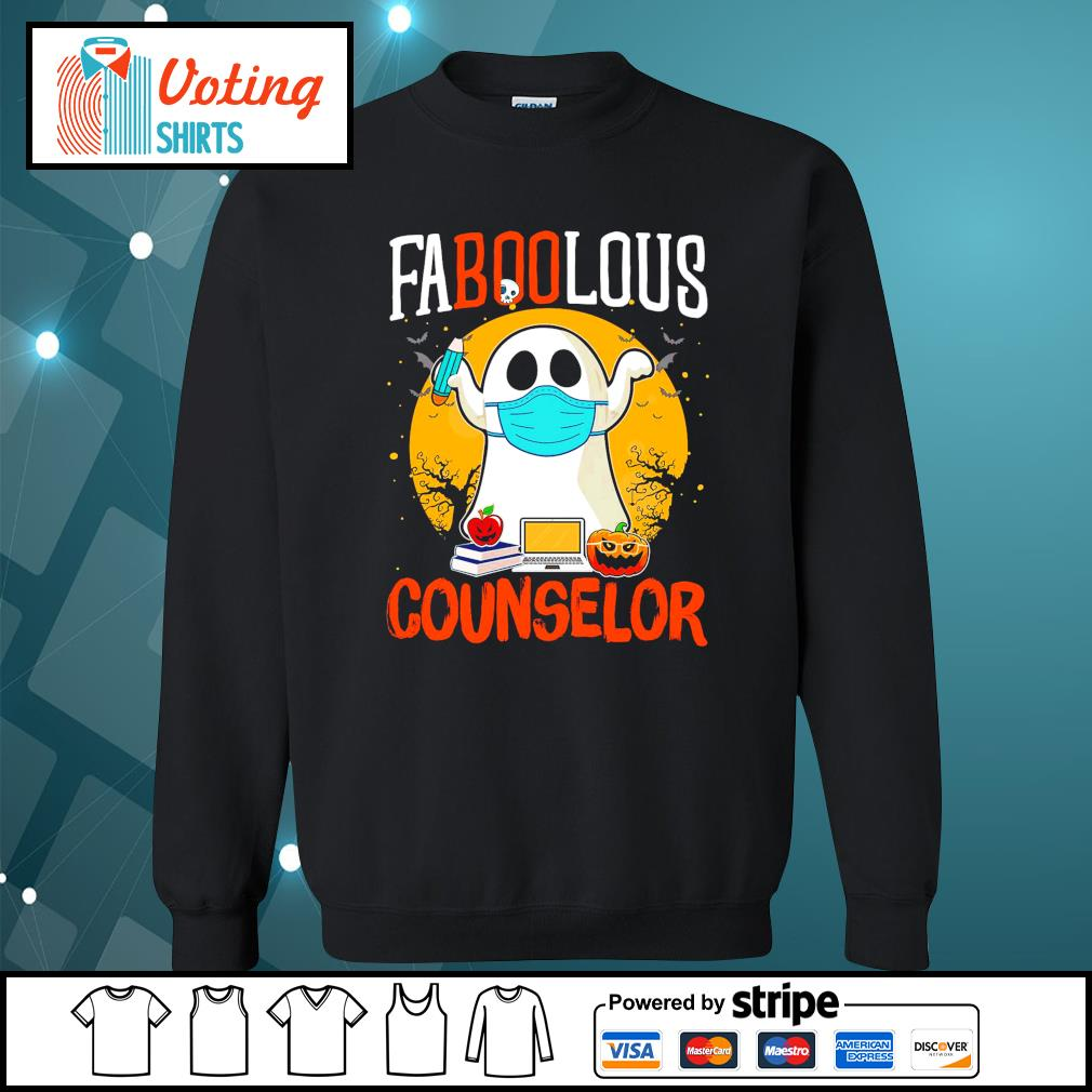 Halloween ghost face mask faboolous counselor s sweater