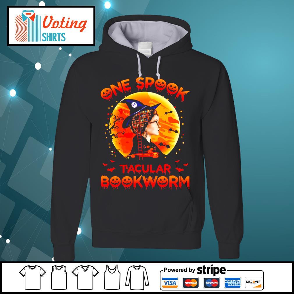 Halloween girl witch one spook tacular bookworm s hoodie