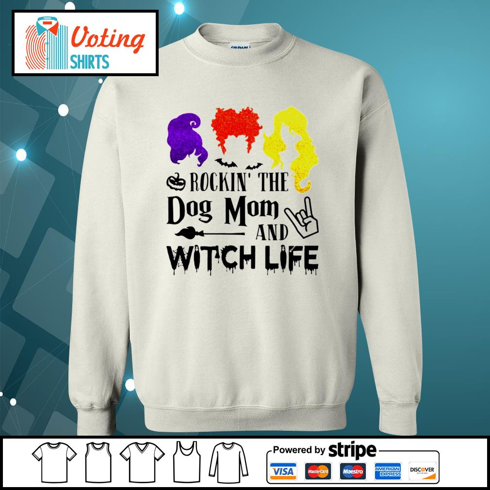 Halloween Hocus Pocus rockin_ the dog mom and witch life s sweater
