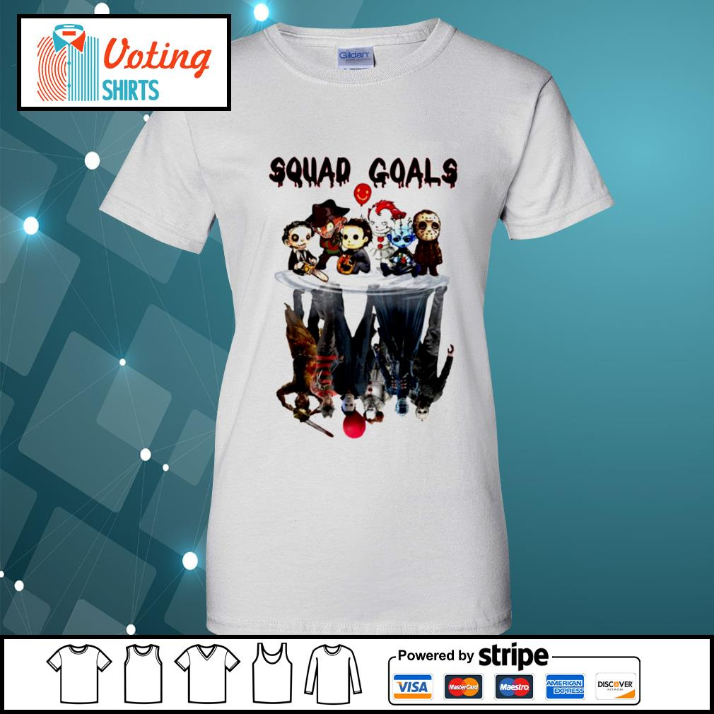 Halloween Horror IT characters chibi squad goals water reflection s ladies-tee