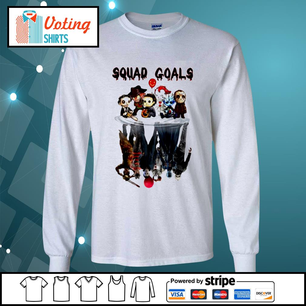 Halloween Horror IT characters chibi squad goals water reflection s longsleeve-tee