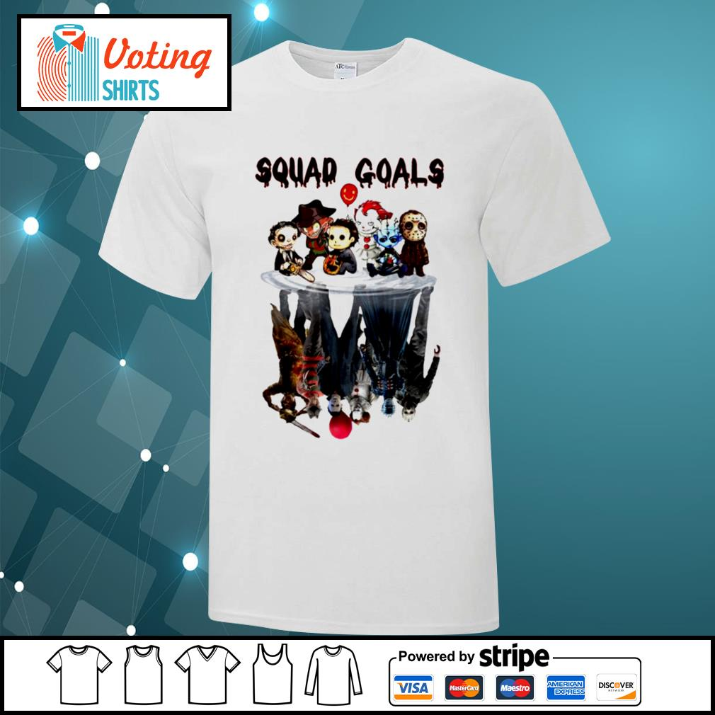 Halloween Horror IT characters chibi squad goals water reflection shirt