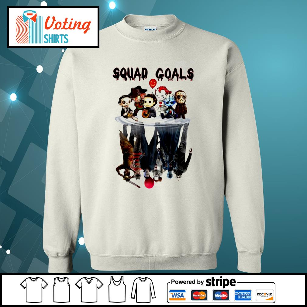 Halloween Horror IT characters chibi squad goals water reflection s sweater