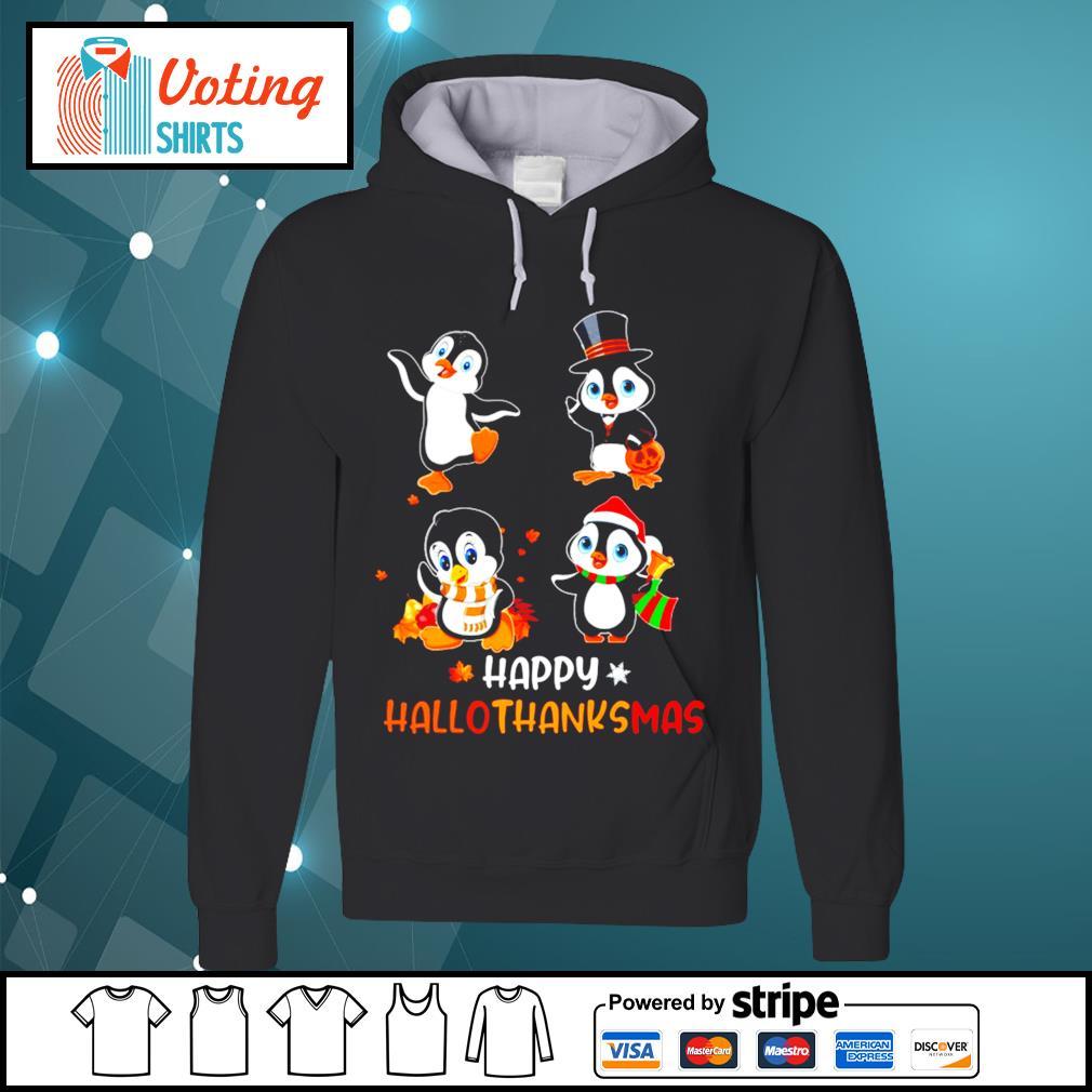 Halloween penguins Happy Hallothanksmas s hoodie