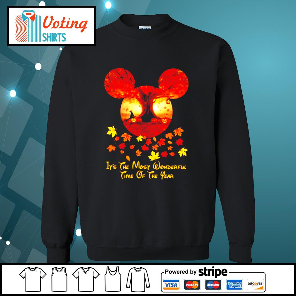Halloween pumpkin Mickey mouse it's the most wonderful time of the year s sweater