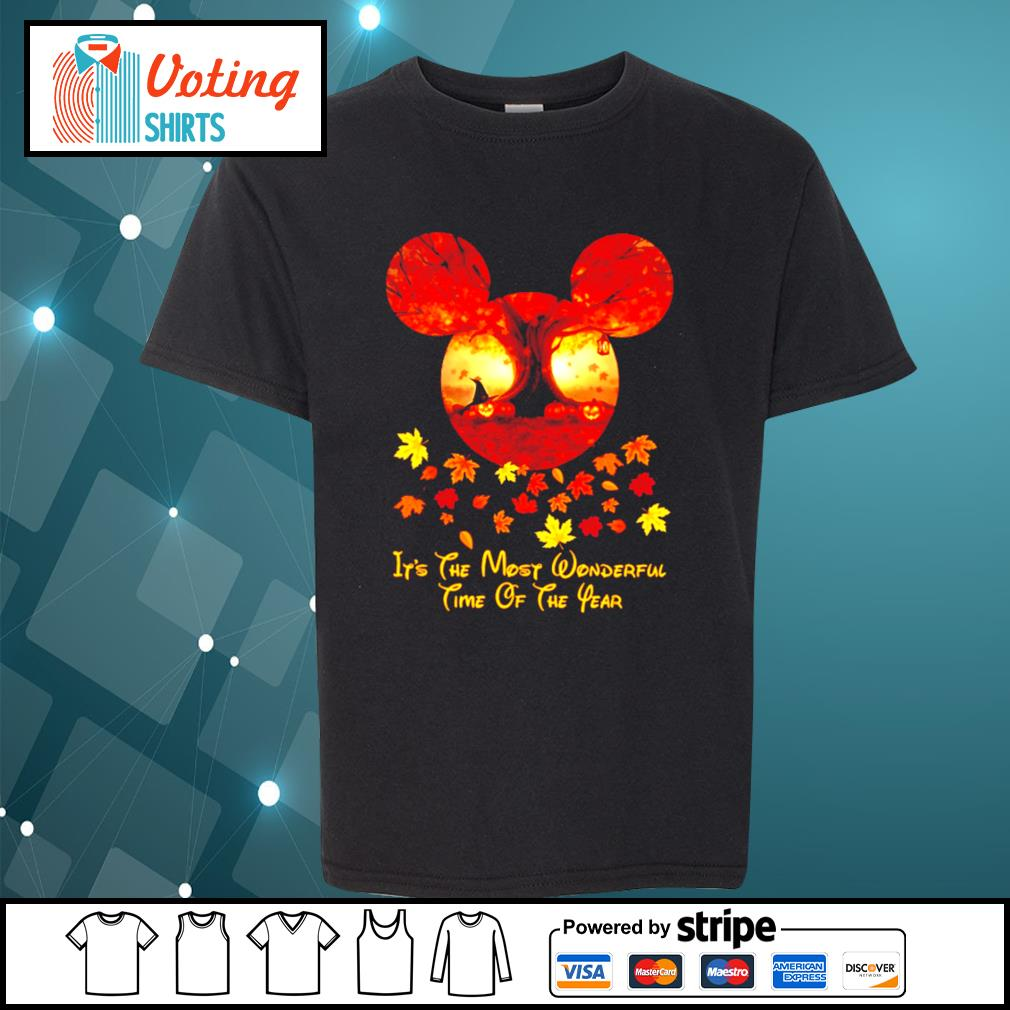 Halloween pumpkin Mickey mouse it's the most wonderful time of the year s youth-tee