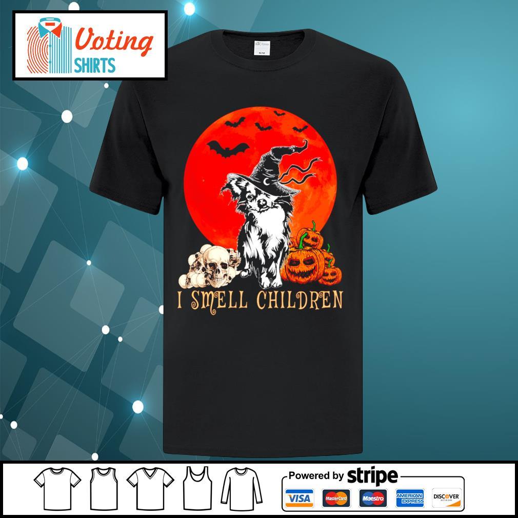 Halloween pumpkin Shih Tzu I smell children shirt